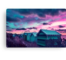 Brighton Beach Sunset Canvas Print