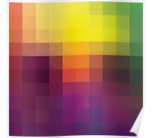 creative square pattern Poster
