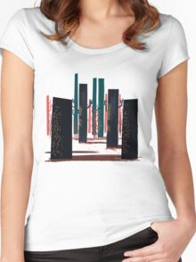 Flat Stamp Forest Women's Fitted Scoop T-Shirt