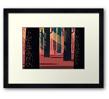Flat Stamp Forest Framed Print