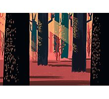 Flat Stamp Forest Photographic Print