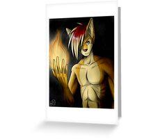 Rex's Flame Greeting Card