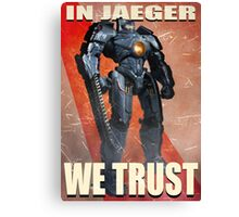 In Jaeger We Trust Poster - ONE:Print Canvas Print