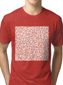 Floral pattern with leaves motive Tri-blend T-Shirt