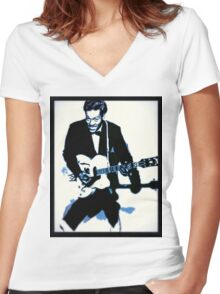 Chuck Berry Rock n Roll Women's Fitted V-Neck T-Shirt