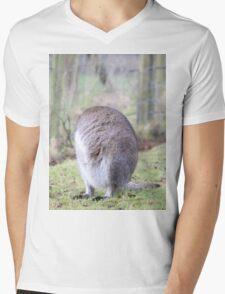 Funny Wallaby Fur Ball Mens V-Neck T-Shirt