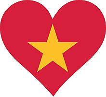 A heart for Vietnam Photographic Print