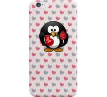 Cute Valentine Penguin iPhone Case/Skin