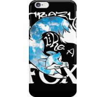 Crazy Like A Fox - Blue Rapids iPhone Case/Skin