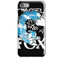 Crazy Like A Fox - Blue Rapids iPhone Case/Skin