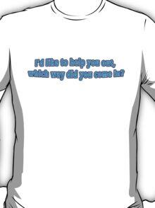 Funny Blue Mimimal Urban Tshirt T-Shirt