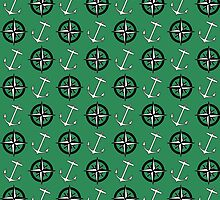 Anchors and Compass Nautical Pattern by shabzdesigns