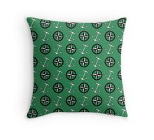 Anchors and Compass Nautical Pattern Throw Pillow