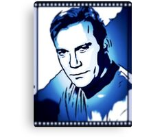 William Shatner as Captain Kirk Canvas Print