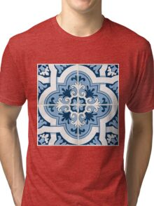 Traditional Portuguese glazed tiles Tri-blend T-Shirt