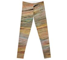 Natural Colorful Sandstone Texture  Leggings