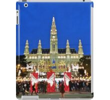 Vienna Rathaus at Christmas time. iPad Case/Skin