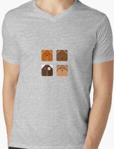 Squared dogs Mens V-Neck T-Shirt