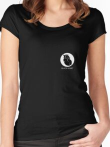 Black heart Women's Fitted Scoop T-Shirt