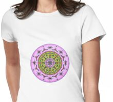 Lilac Green Mandala Womens Fitted T-Shirt