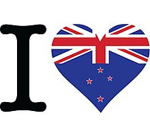 I Love New Zealand Photographic Print