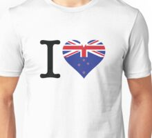 I Love New Zealand Unisex T-Shirt