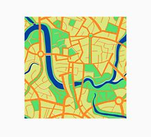 Seamless pattern of city map. Unisex T-Shirt