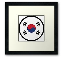 Marked by South Korea Framed Print