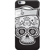 Marinero muerto sugar skull iPhone Case/Skin