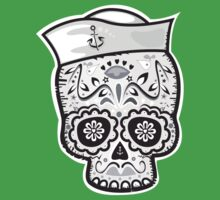 Marinero muerto sugar skull Kids Clothes