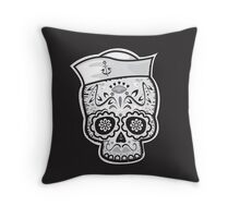 Marinero muerto sugar skull Throw Pillow
