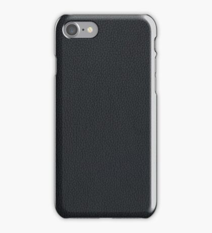 Black leather texture iPhone Case/Skin