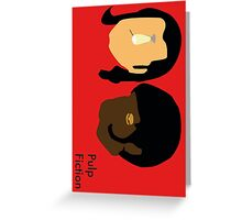 Pulp Fiction- Main Characters Greeting Card