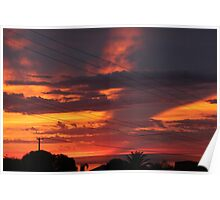 A touch of sunset. Poster