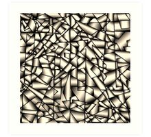 Metallic ribbon Art Print