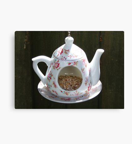 Birds Teapot Canvas Print