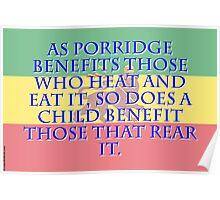 As Porridge Benefits - Amharic Proverb Poster