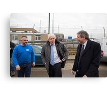 Boris Johnson  & Doug Taylor Canvas Print