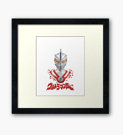 LOW POLYGON PORTRAIT - ULTRAMAN ACE Framed Print