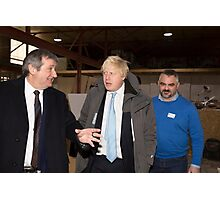 Boris Johnson  & Doug Taylor Photographic Print