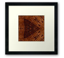 Pyrographic Patterns Framed Print