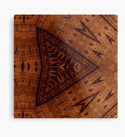 Pyrographic Patterns Metal Print
