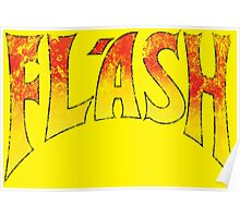 Flash Gordon - Gradient Distressed red yellow Logo Poster