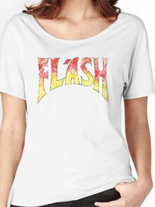 Flash Gordon - Gradient Distressed red yellow Logo Women's Relaxed Fit T-Shirt