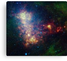 Infrared portrait revealing the stars and dust of the Small Magellanic Cloud. Canvas Print