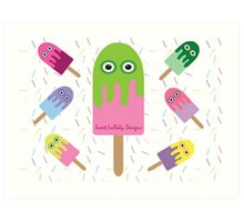 Adorable Ice-cream and sprinkles Art Print