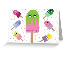 Adorable Ice-cream and sprinkles Greeting Card