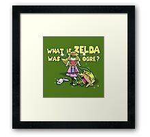 What if Zelda was Ogre? Framed Print