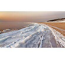 The frozen coast Photographic Print