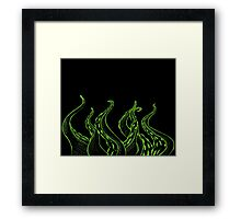 Green Sketched Tentacles Framed Print